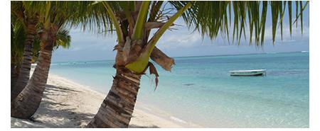 La plage de Mont Choisy île Maurice
